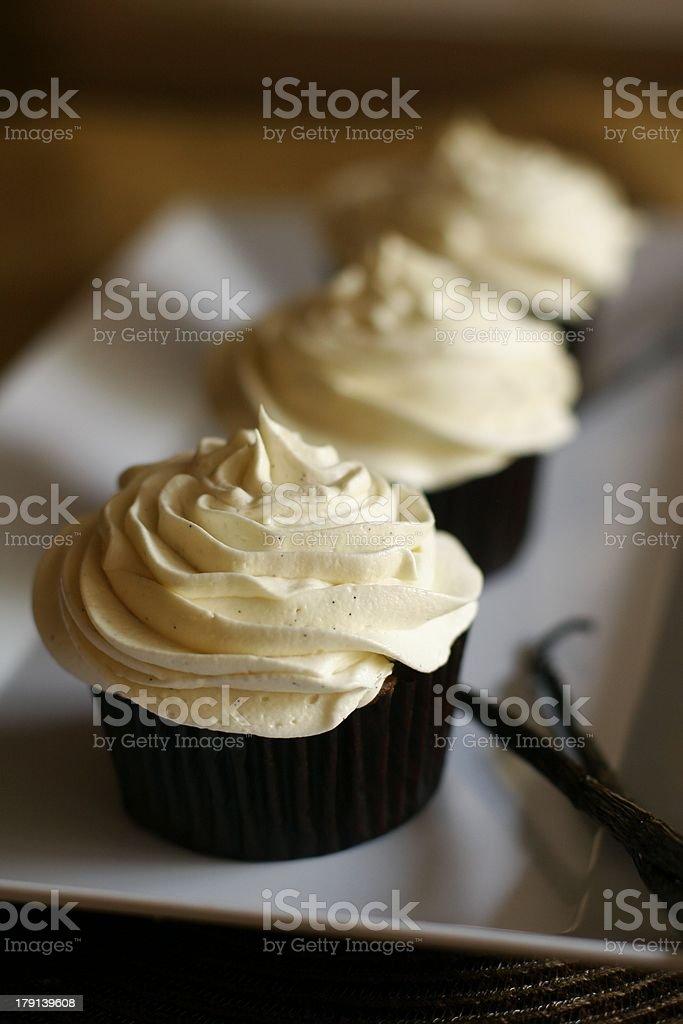 Vanilla Cupcakes royalty-free stock photo
