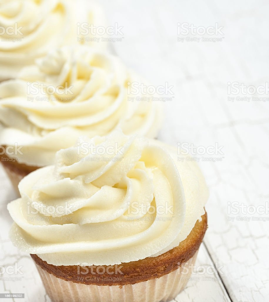 Vanilla Cupcakes stock photo