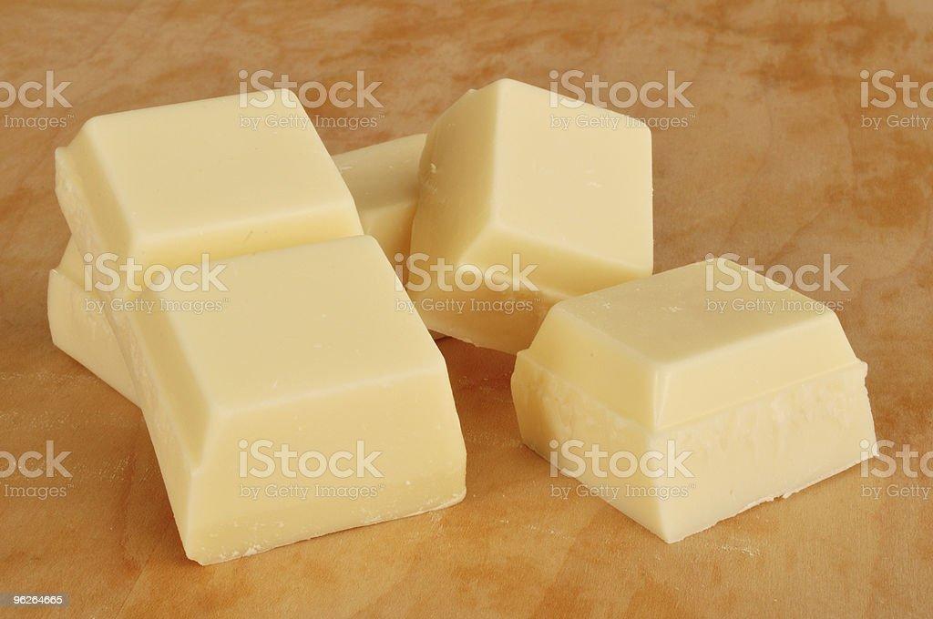 Vanilla Flavored Almond Bark (White Chocolate) stock photo