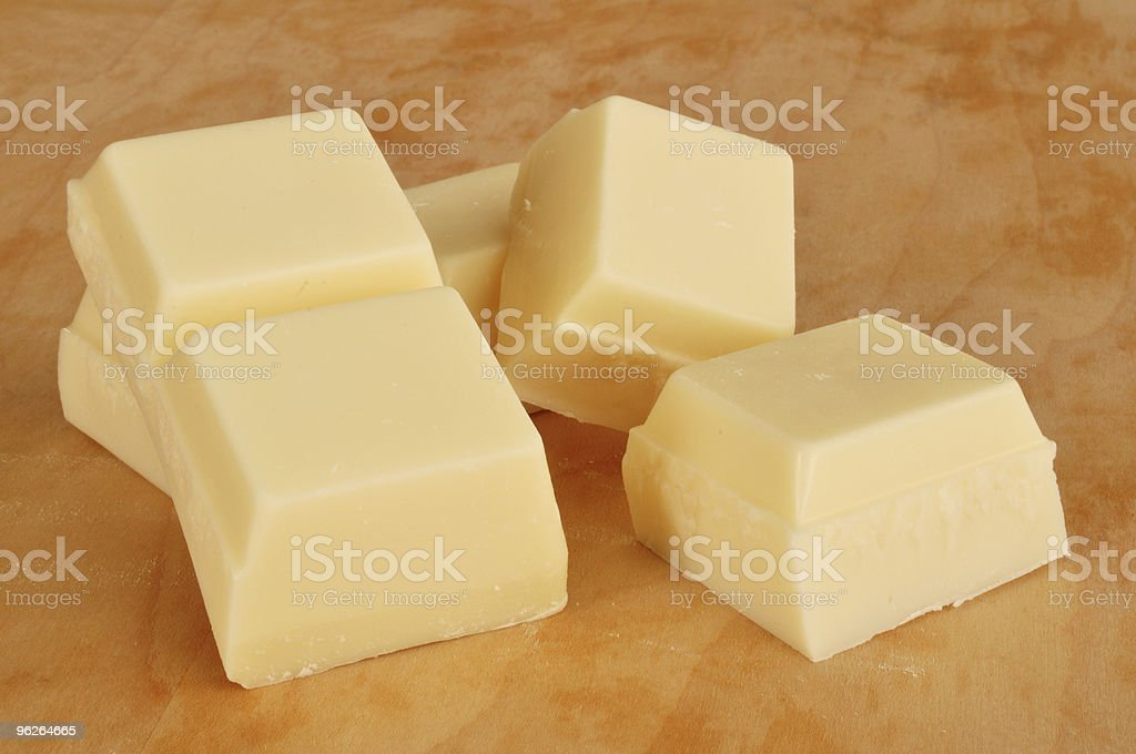 Vanilla Flavored Almond Bark (White Chocolate) stock photo