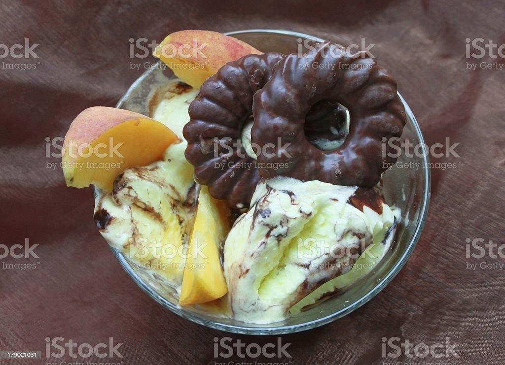 Vanilla ice cream royalty-free stock photo