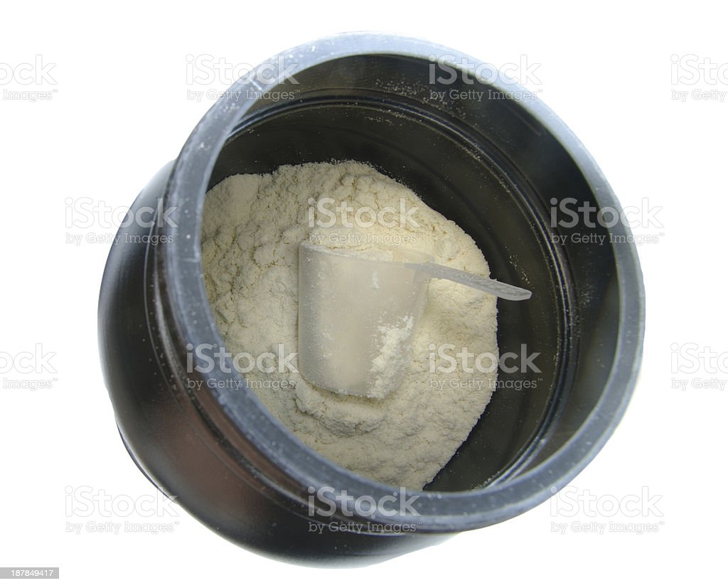 vanilla protein stock photo