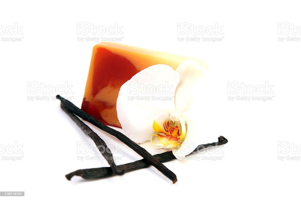 Vanilla soap. stock photo