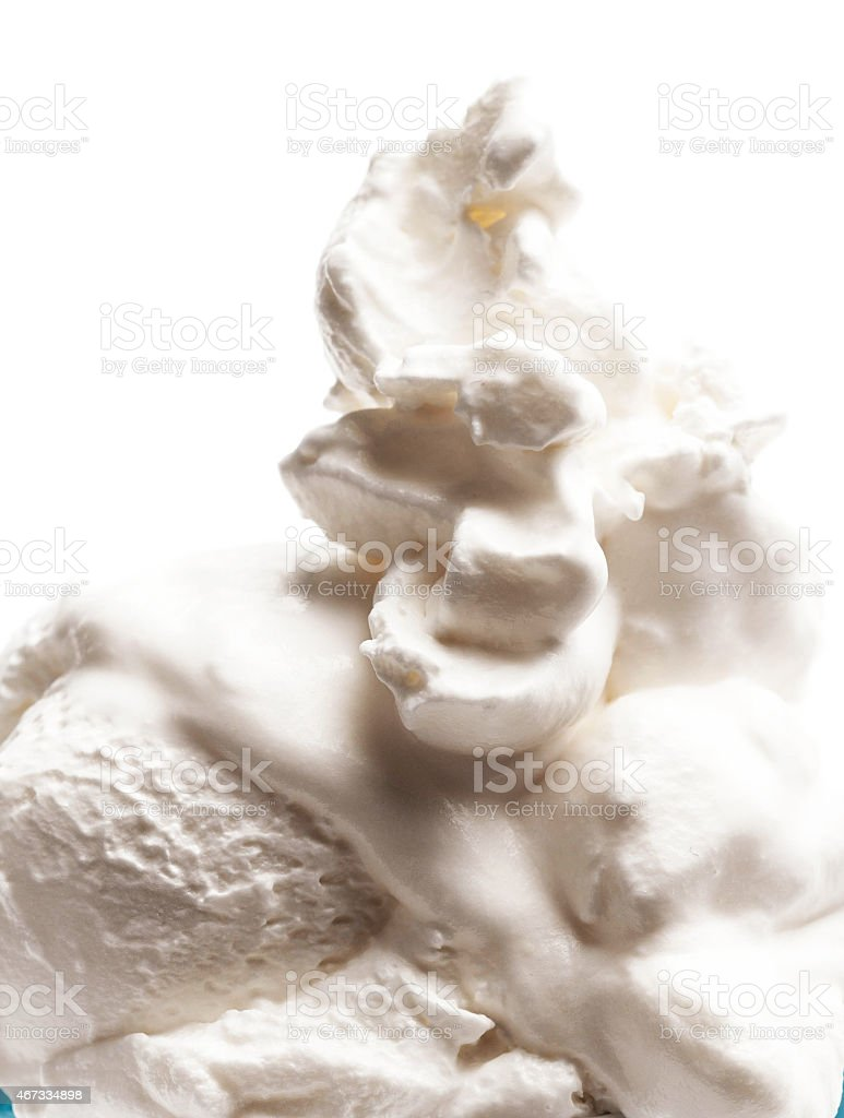 Vanilla Soft Ice Cream Isolated On White Background close up. stock photo