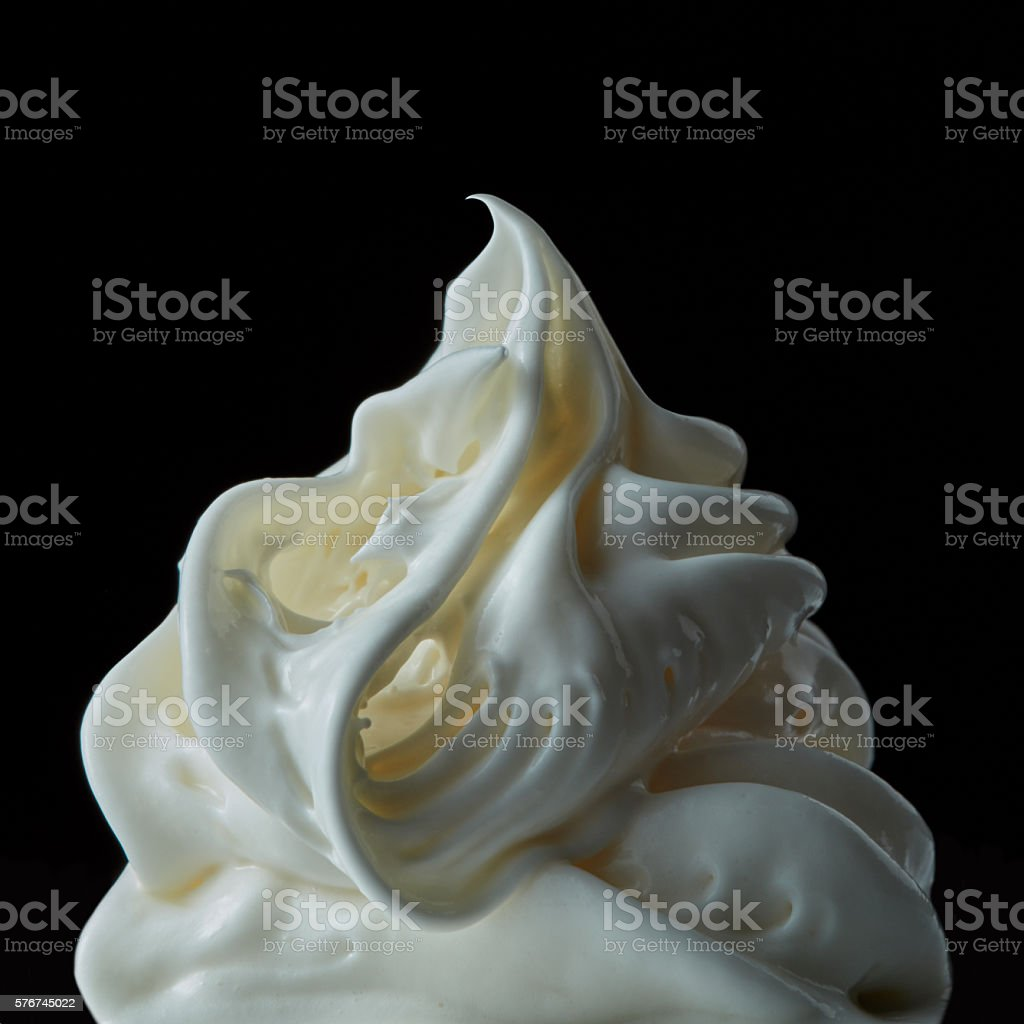 Vanilla Soft Ice Cream stock photo