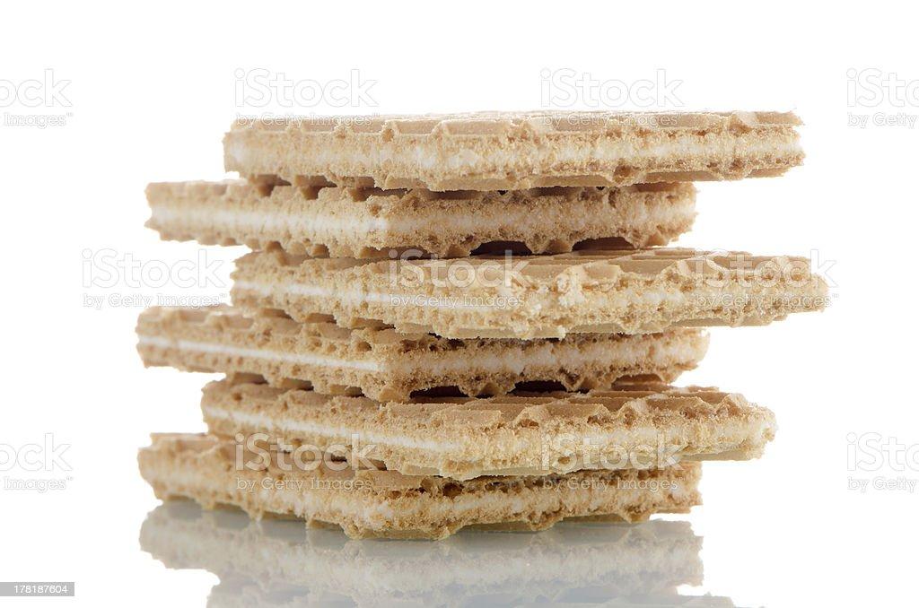 Vanilla wafers royalty-free stock photo