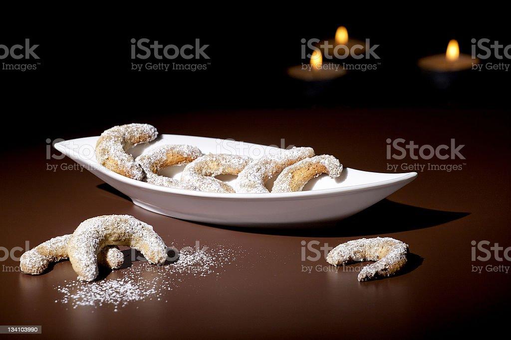 Vanillekipferl stock photo