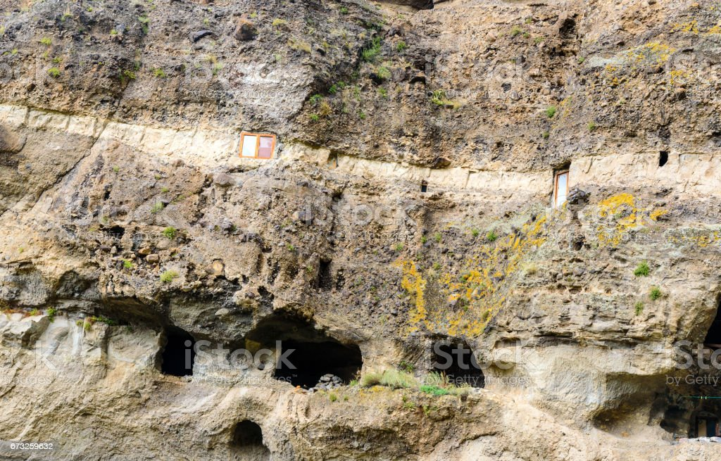 Vanis Kvabebi cave monastery. Georgia stock photo