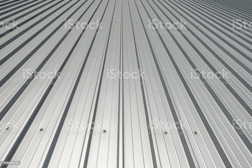 Vanishing Aluminium Lines stock photo