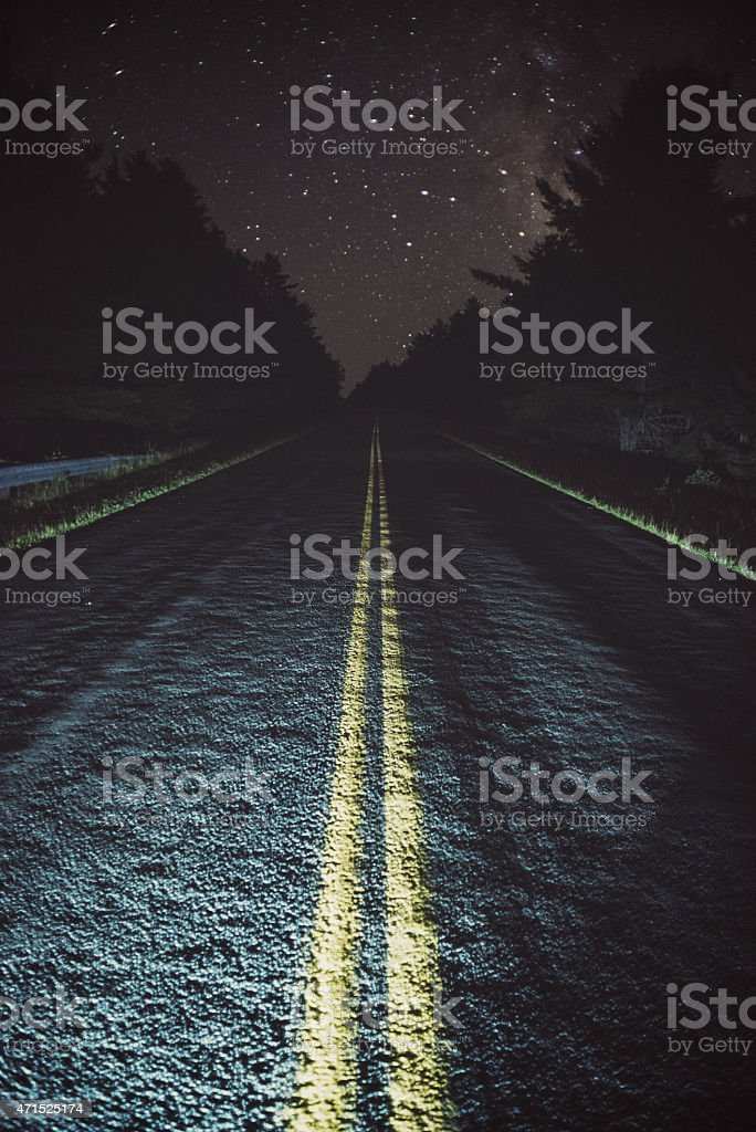 Vanishing in the Stars stock photo