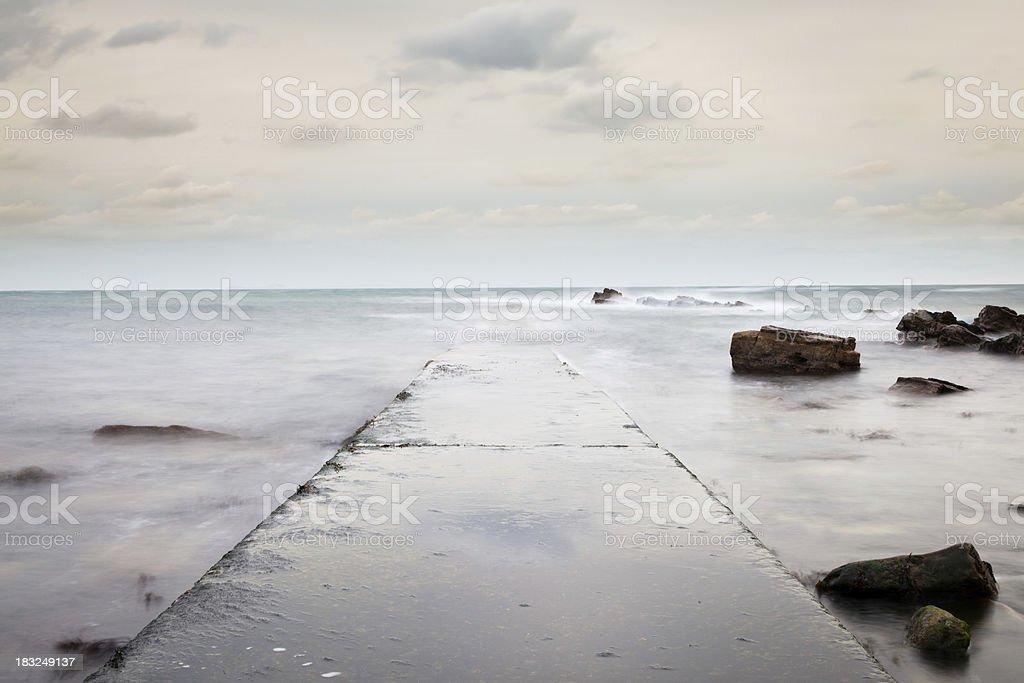 Vanishing ramp stock photo