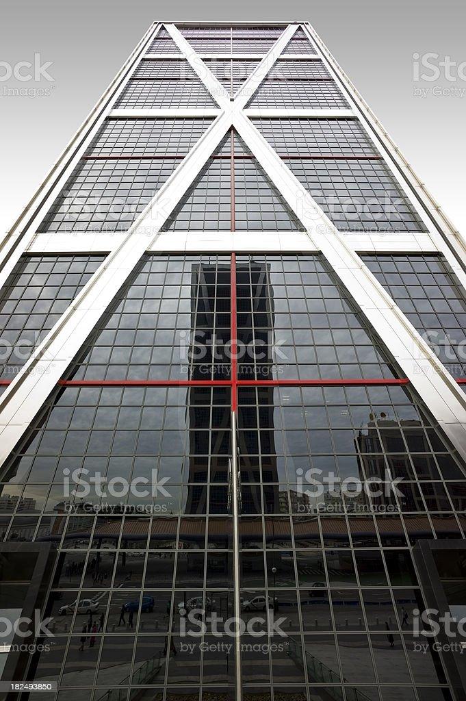 Vanishing skyscraper. Absolutely symetric royalty-free stock photo
