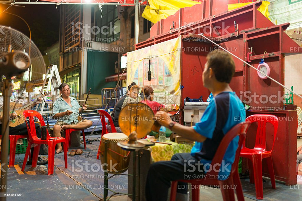 Vanishing trade - The Traditional Chinese Hand Puppet, Singapore stock photo