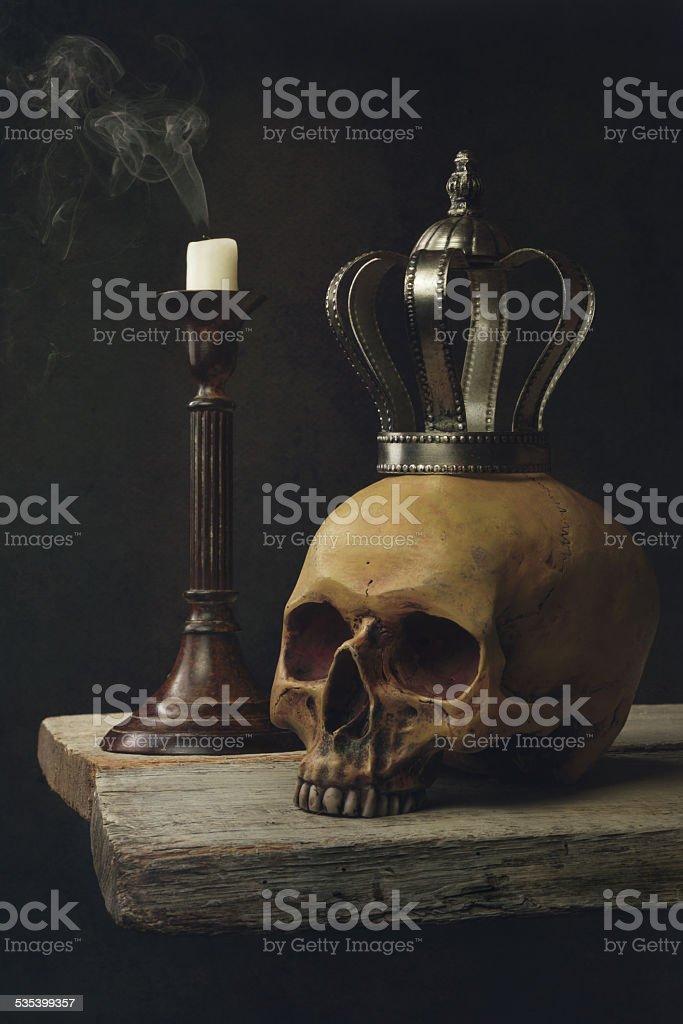 Vanitas Life, death and resurrection stock photo