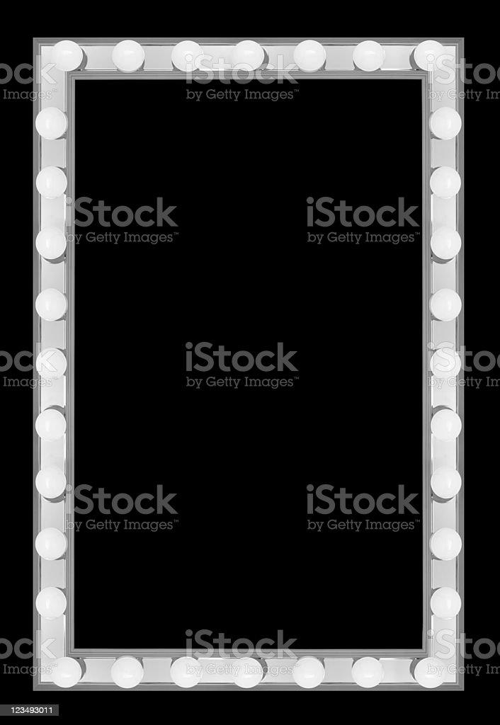 vanity lights border XXL royalty-free stock photo