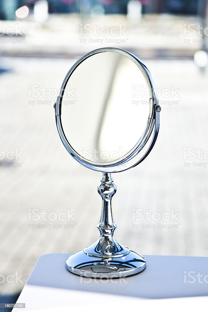 Vanity Mirror In A Bathroom royalty-free stock photo