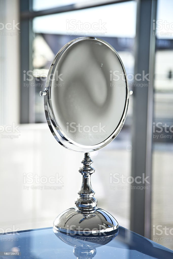 Vanity Mirror In A Bathroom royalty-free stock photo