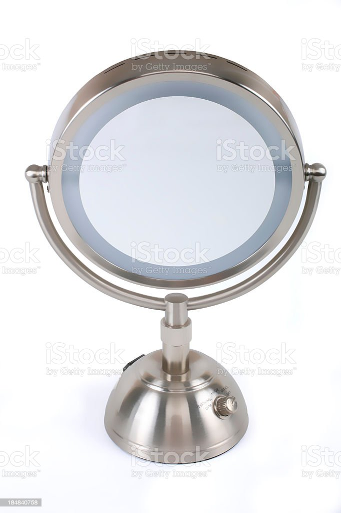 Vanity mirror on white background. royalty-free stock photo