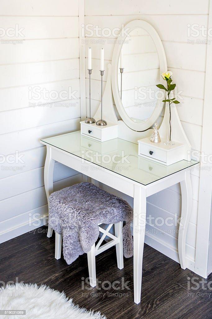 Vanity Table stock photo