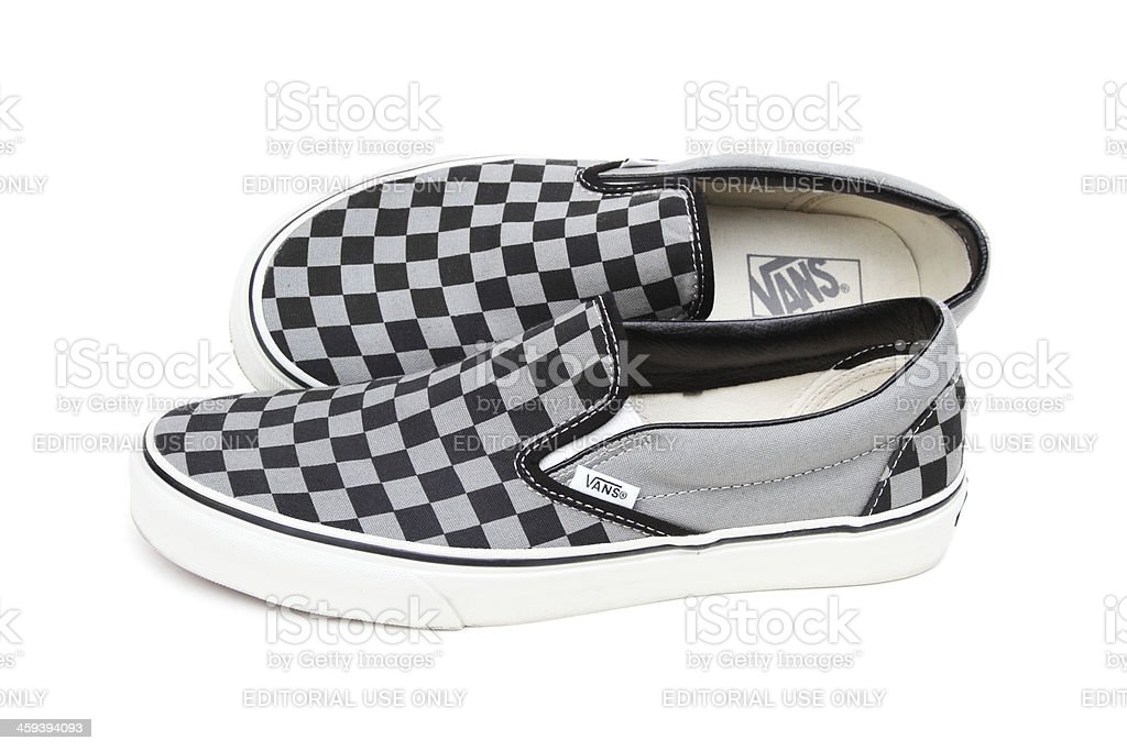 Van's Checkerboard casual shoes stock photo