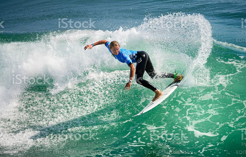2015 Vans US open of surfing competition stock photo