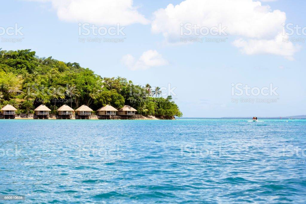 Vanuatu Iririki island, beuatiful nature background with copy space stock photo