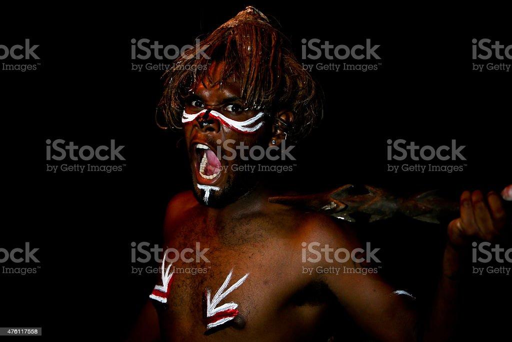 Vanuatu Tribal Custom stock photo