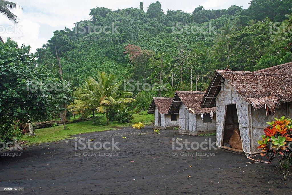 Vanuatu village stock photo