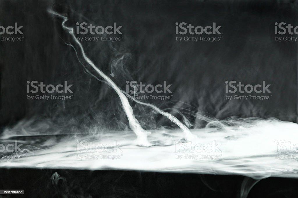Vape trick tornado stock photo
