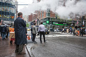 Vapor from street underground in NYC