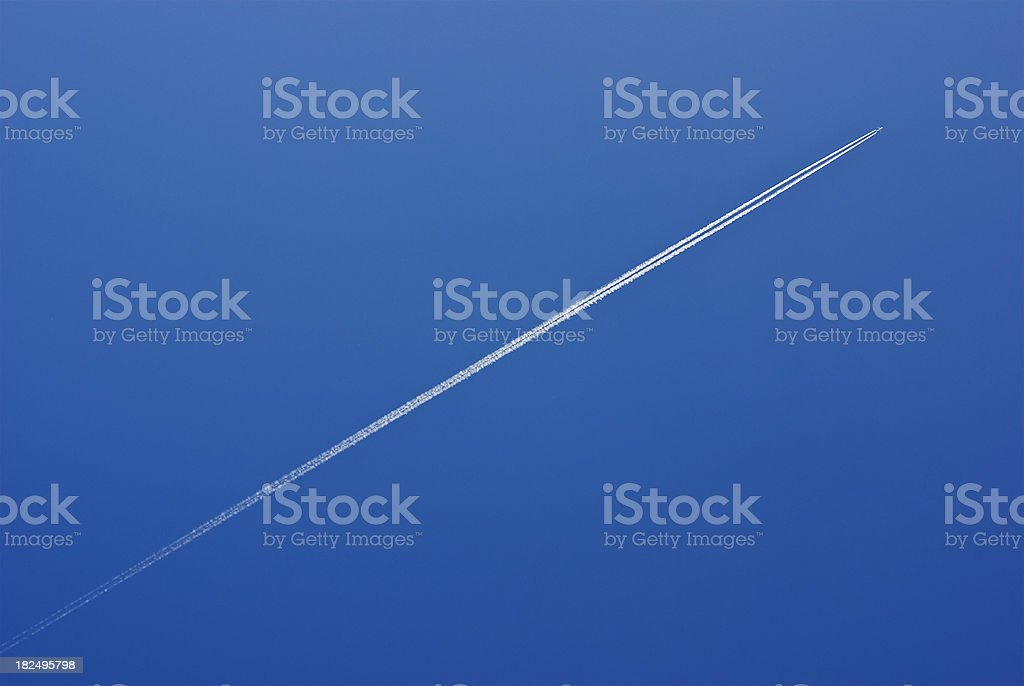 Vapor Trail royalty-free stock photo