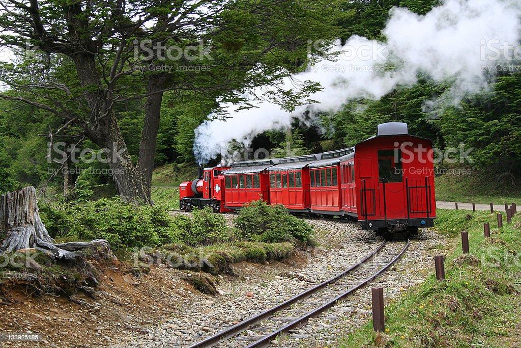 vapor train stock photo