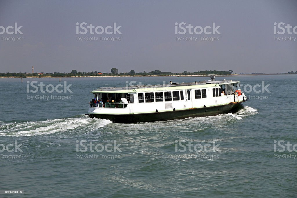 vaporetto in Venice for the transportation of tourists and peopl royalty-free stock photo