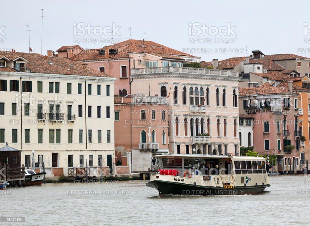 Vaporetto in Venice, Italy. royalty-free stock photo