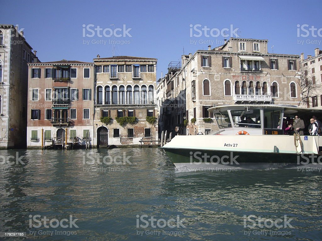 vaporetto on canal grande royalty-free stock photo