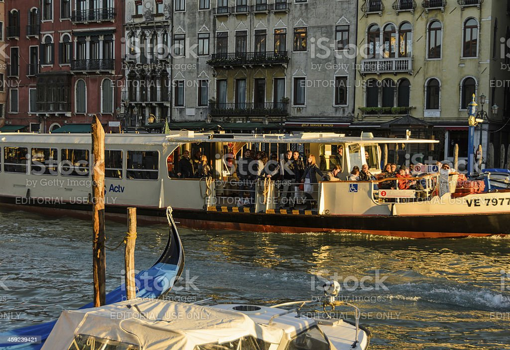 Vaporetto on Grand Canal in Venice royalty-free stock photo