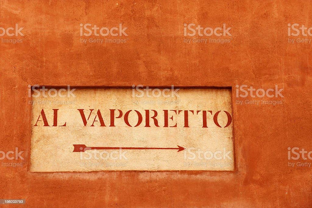 Vaporetto stop royalty-free stock photo