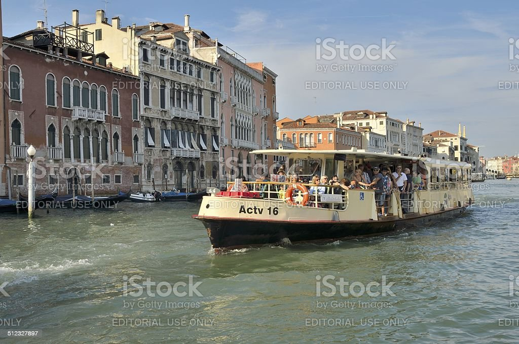 Vaporetto water bus stock photo