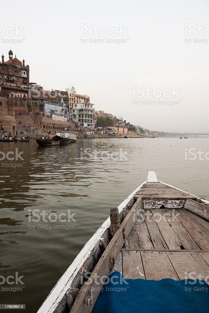 Varanasi boat trip royalty-free stock photo