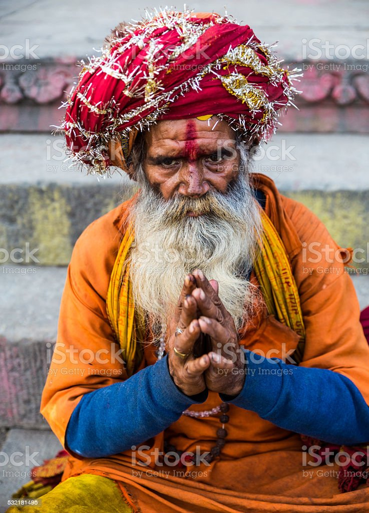 Varanasi Sadhu stock photo