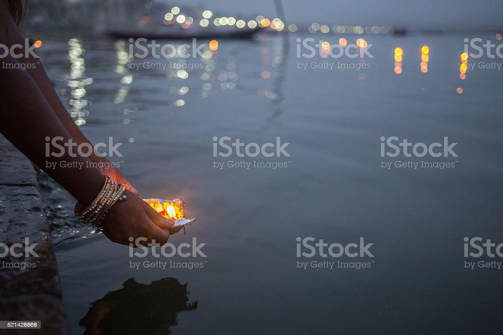 Varanasi_Puja_2 stock photo