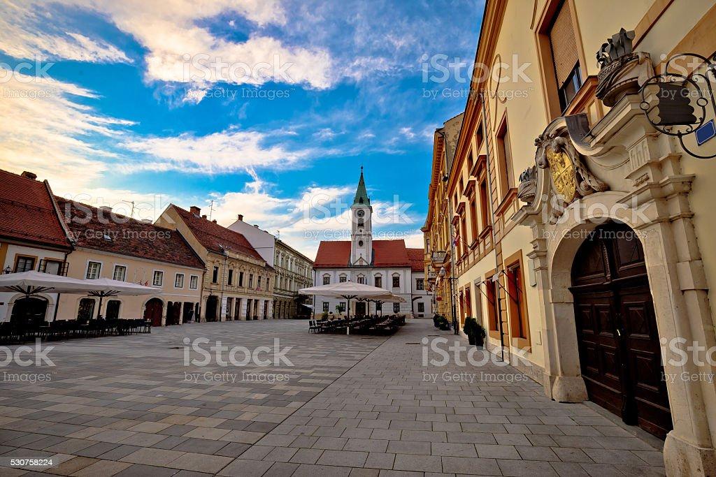 Varazdin baroque architecture in town center stock photo