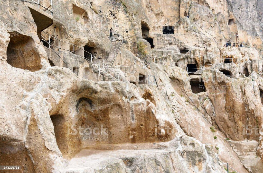 Vardzia cave monastery. Georgia stock photo