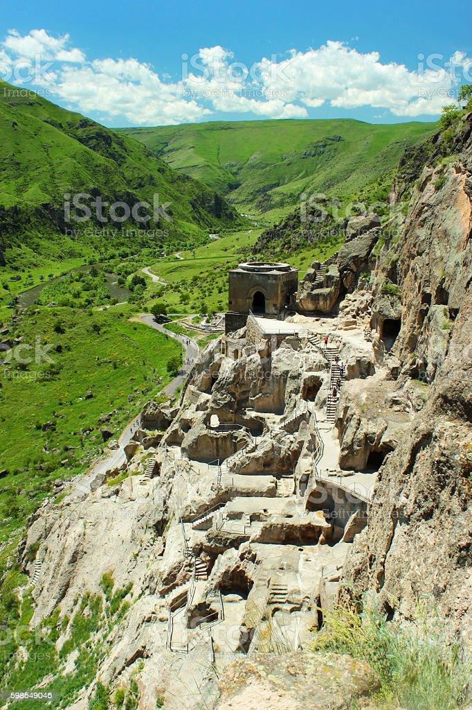 Vardzia cave monastery near Akhaltsikhe city, Georgia stock photo
