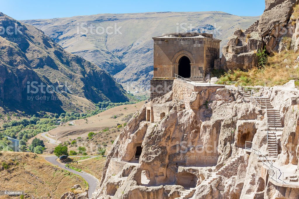 Vardzia cave monastery stock photo