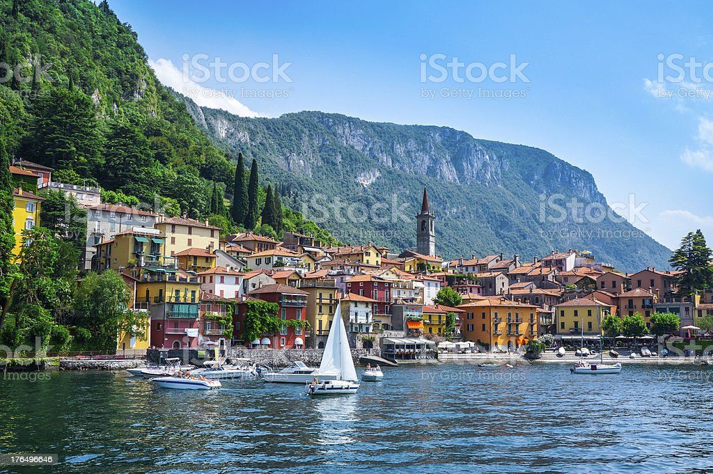 Varenna village on Lake Como in Lombardy, Italy royalty-free stock photo