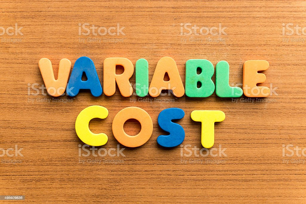 variable cost stock photo