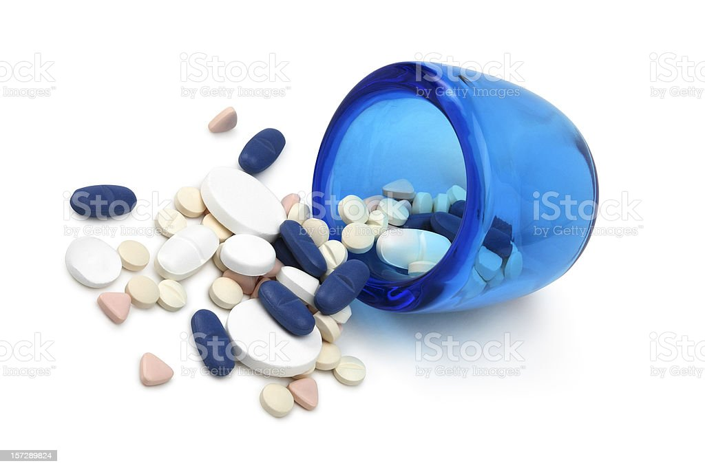 Variated pills stock photo
