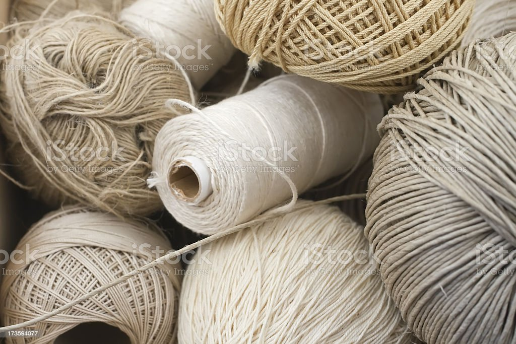 Variation of balls of threads. stock photo