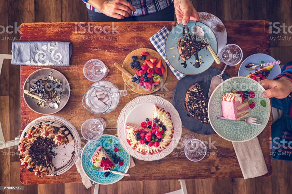 Variation of Cakes like Berry Layer Cake, Chocolate Cake and Black...